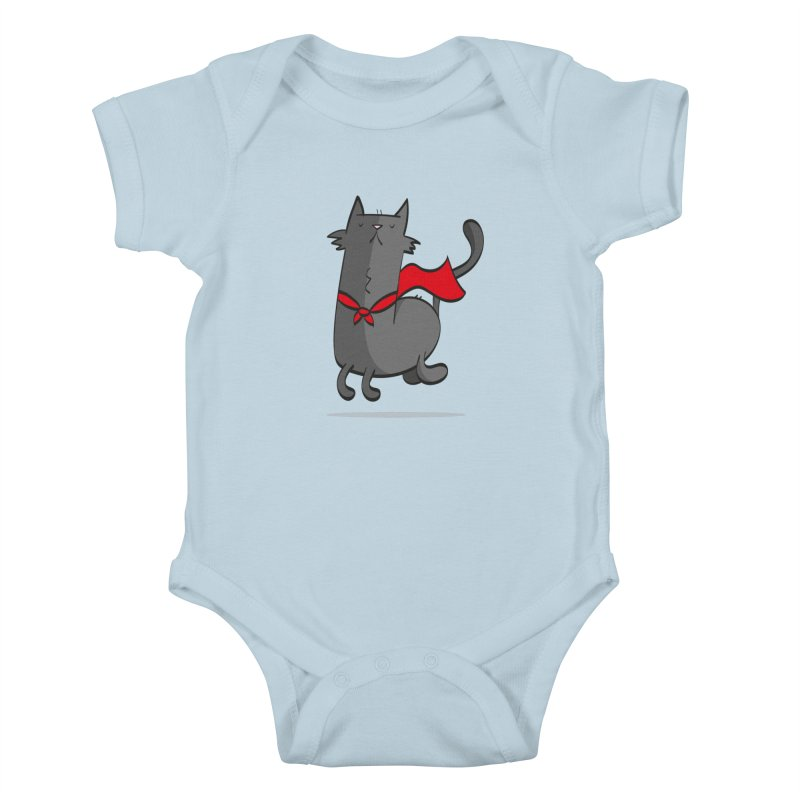 Super Cat Kids Baby Bodysuit by thiagoegg's Artist Shop