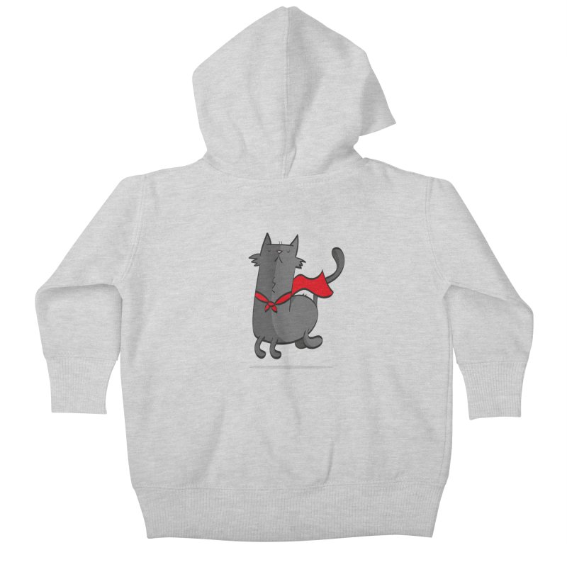Super Cat Kids Baby Zip-Up Hoody by thiagoegg's Artist Shop