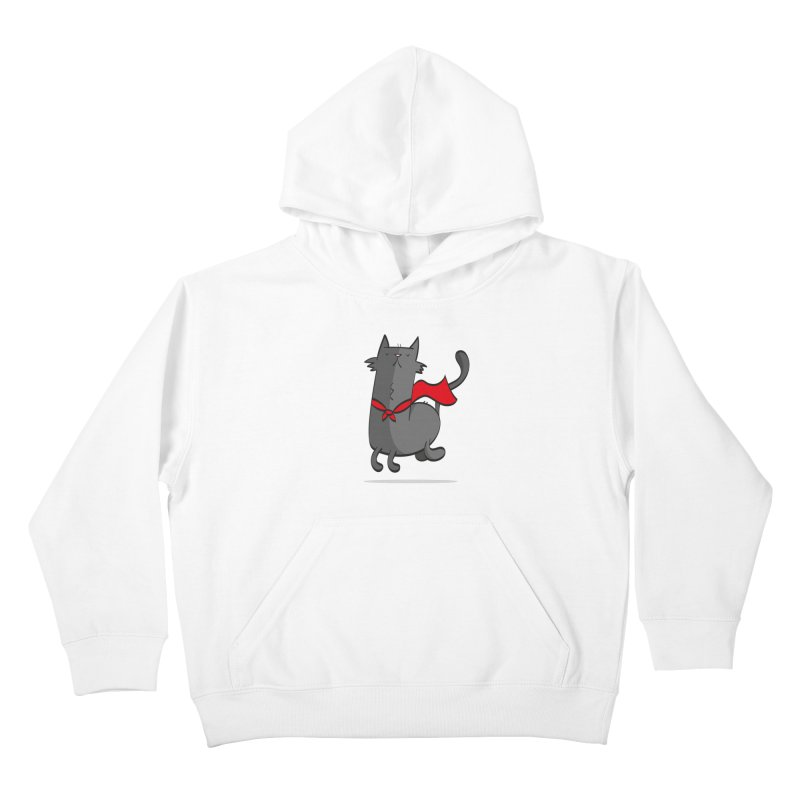 Super Cat Kids Pullover Hoody by thiagoegg's Artist Shop