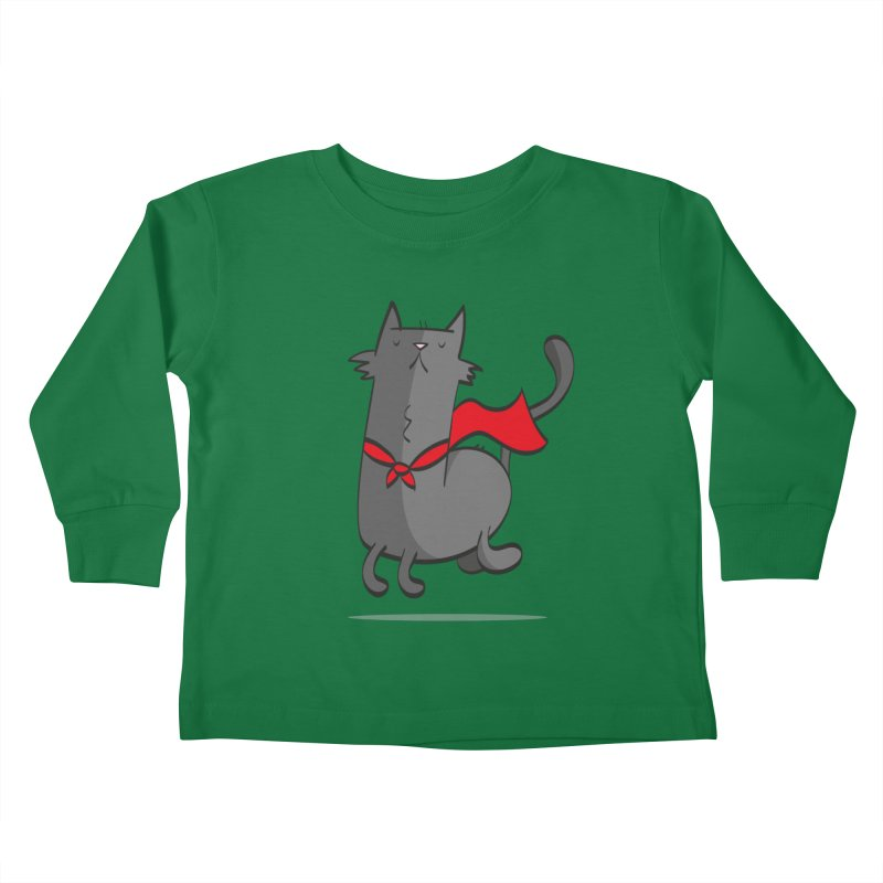 Super Cat Kids Toddler Longsleeve T-Shirt by thiagoegg's Artist Shop