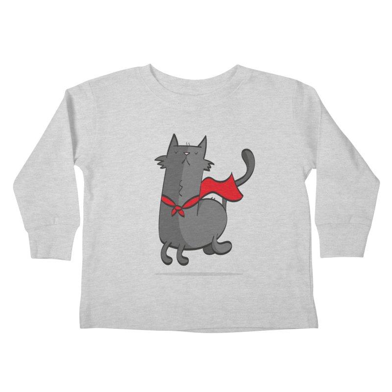 Super Cat Kids Toddler Longsleeve T-Shirt by thiagoegg's Artist Shop