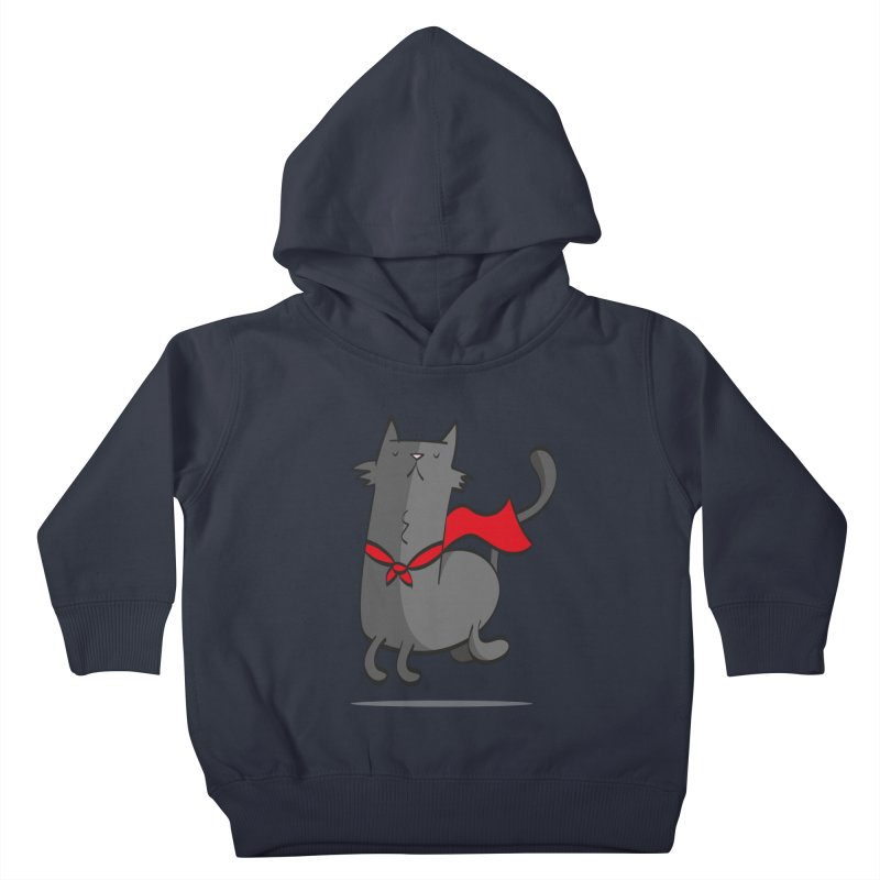 Super Cat Kids Toddler Pullover Hoody by thiagoegg's Artist Shop