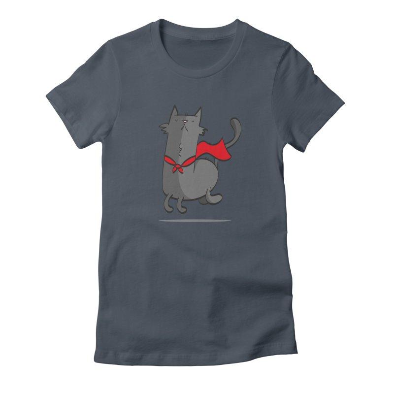 Super Cat Women's T-Shirt by thiagoegg's Artist Shop