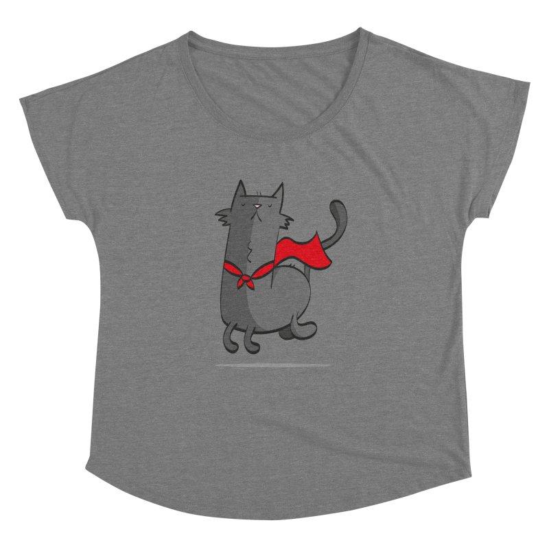 Super Cat Women's Dolman Scoop Neck by thiagoegg's Artist Shop