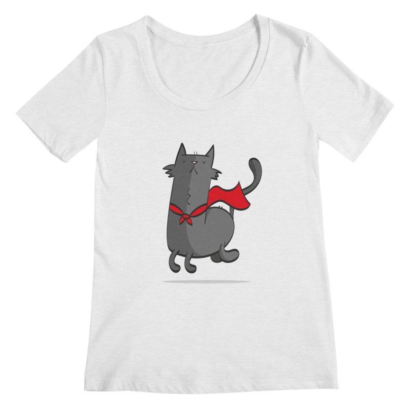 Super Cat Women's Regular Scoop Neck by thiagoegg's Artist Shop