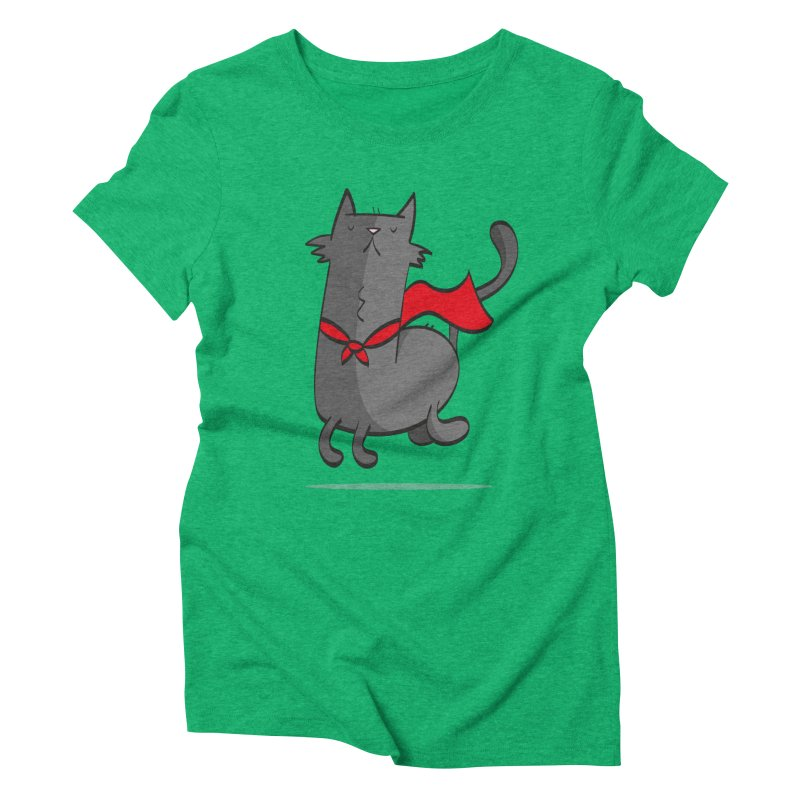 Super Cat Women's Triblend T-Shirt by thiagoegg's Artist Shop