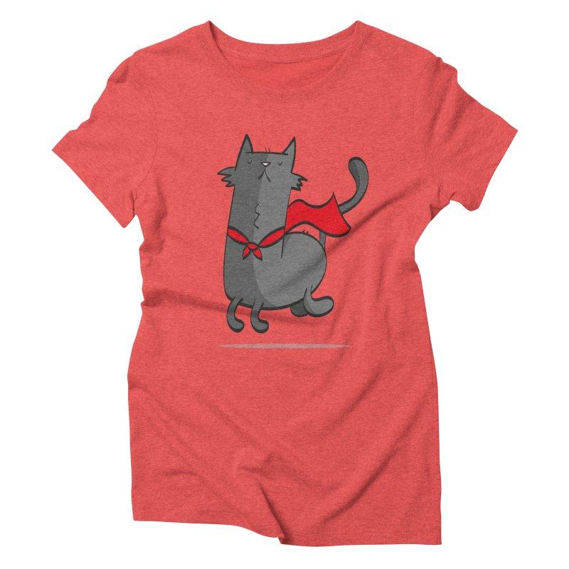 Super Cat Women's Triblend T-shirt by thiagoegg's Artist Shop