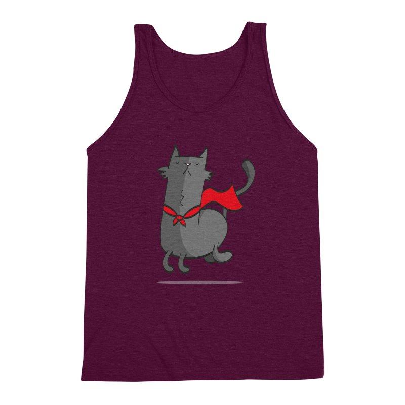 Super Cat Men's Triblend Tank by thiagoegg's Artist Shop