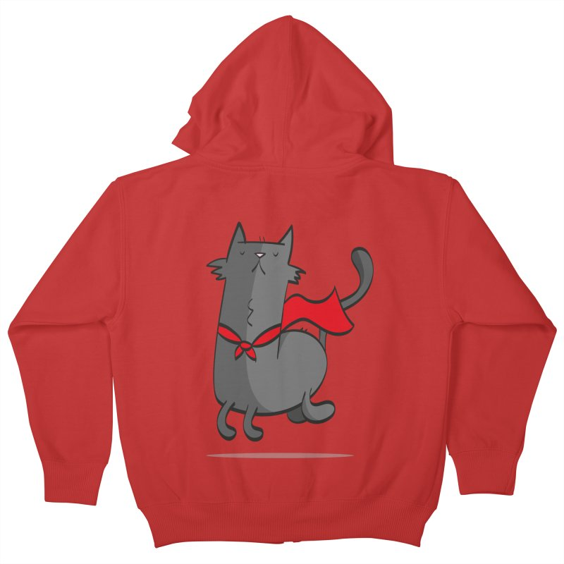 Super Cat Kids Zip-Up Hoody by thiagoegg's Artist Shop
