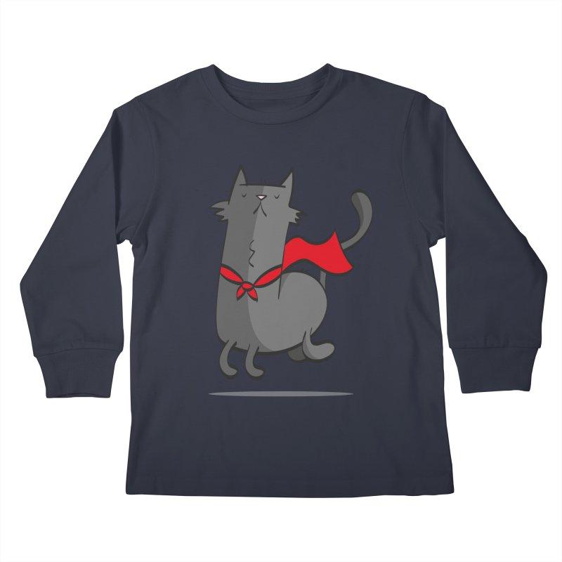 Super Cat Kids Longsleeve T-Shirt by thiagoegg's Artist Shop