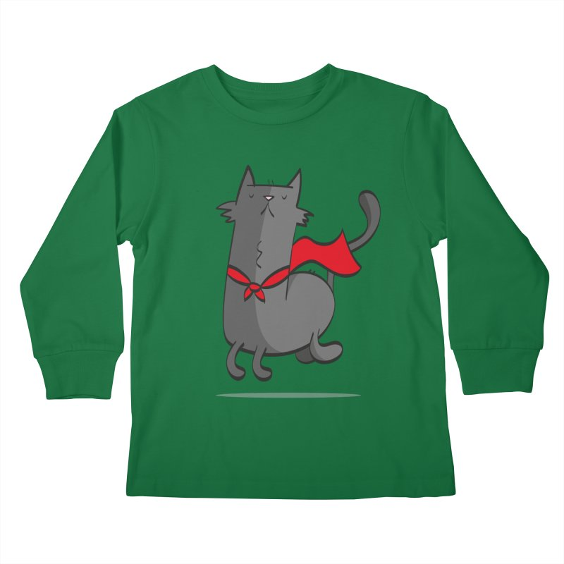 Super Cat Kids Longsleeve T-Shirt by thiagoegg's Artist Shop