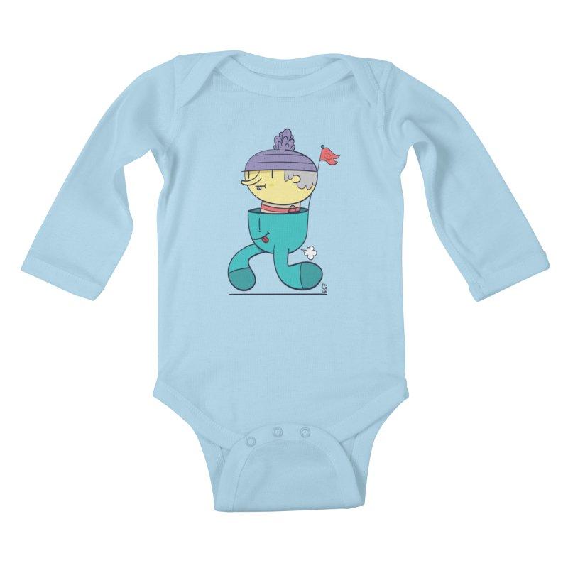 Walker Kids Baby Longsleeve Bodysuit by thiagoegg's Artist Shop