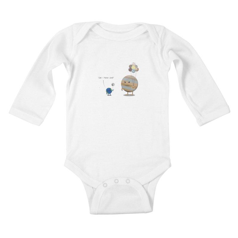 Oh, Jupiter! Kids Baby Longsleeve Bodysuit by thibault's Artist Shop