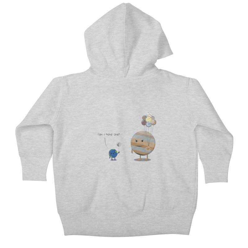 Oh, Jupiter! Kids Baby Zip-Up Hoody by thibault's Artist Shop