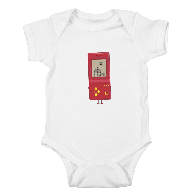 Brick game Kids Baby Bodysuit by thibault's Artist Shop