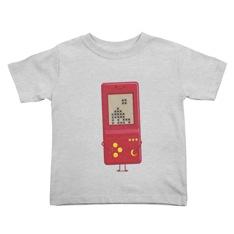 Brick game Kids Toddler T-Shirt by thibault's Artist Shop