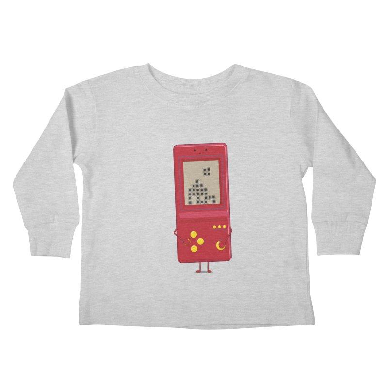 Brick game Kids Toddler Longsleeve T-Shirt by thibault's Artist Shop