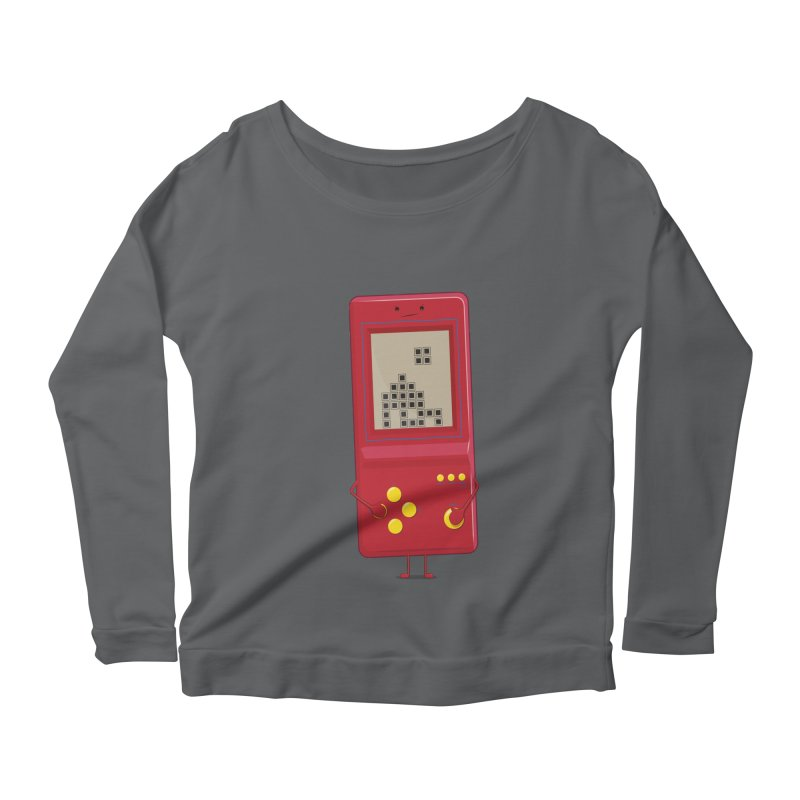 Brick game Women's Longsleeve Scoopneck  by thibault's Artist Shop