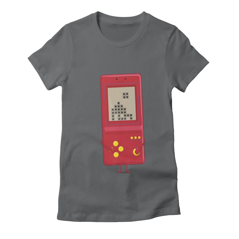 Brick game Women's Fitted T-Shirt by thibault's Artist Shop