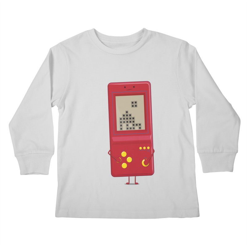 Brick game Kids Longsleeve T-Shirt by thibault's Artist Shop