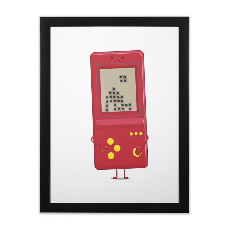 Brick game Home Framed Fine Art Print by thibault's Artist Shop