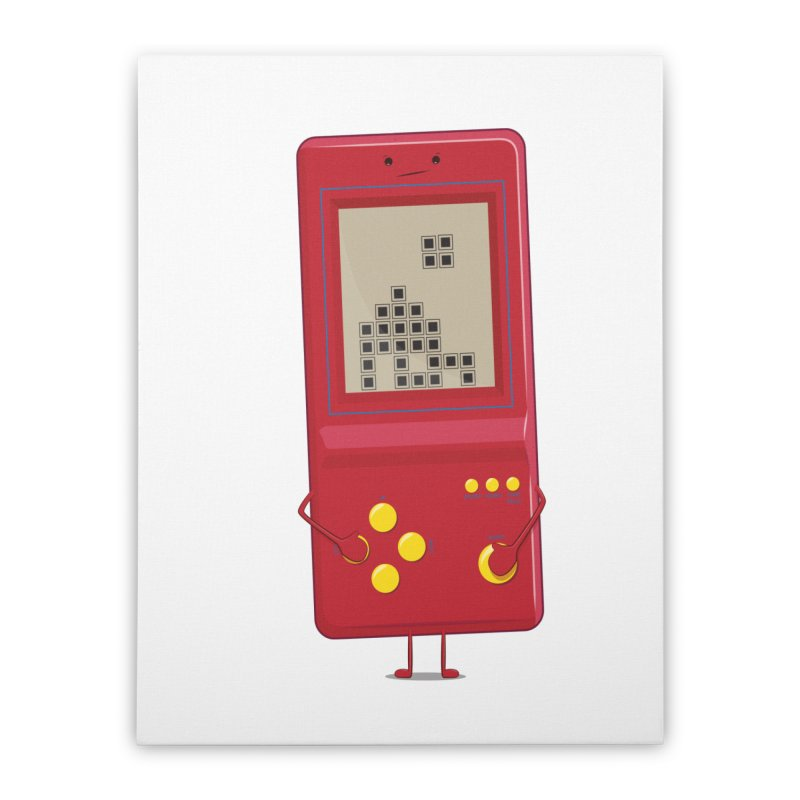 Brick game Home Stretched Canvas by thibault's Artist Shop