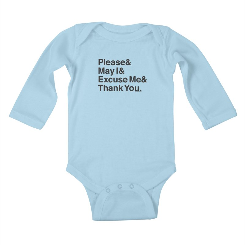 Magic Words Kids Baby Longsleeve Bodysuit by things made good