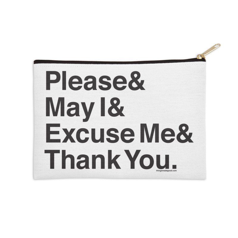 Magic Words (light) Accessories Zip Pouch by things made good