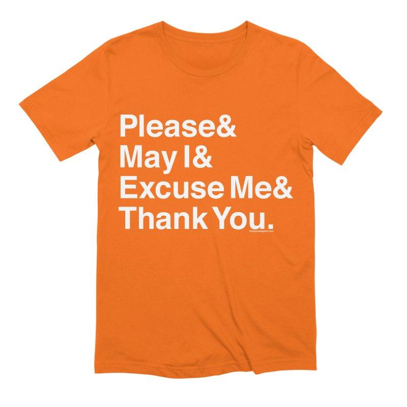 Magic Words (dark) Men's T-Shirt by things made good
