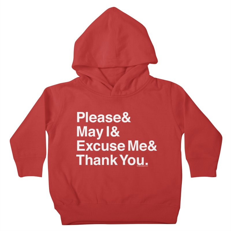 Magic Words Kids Toddler Pullover Hoody by things made good