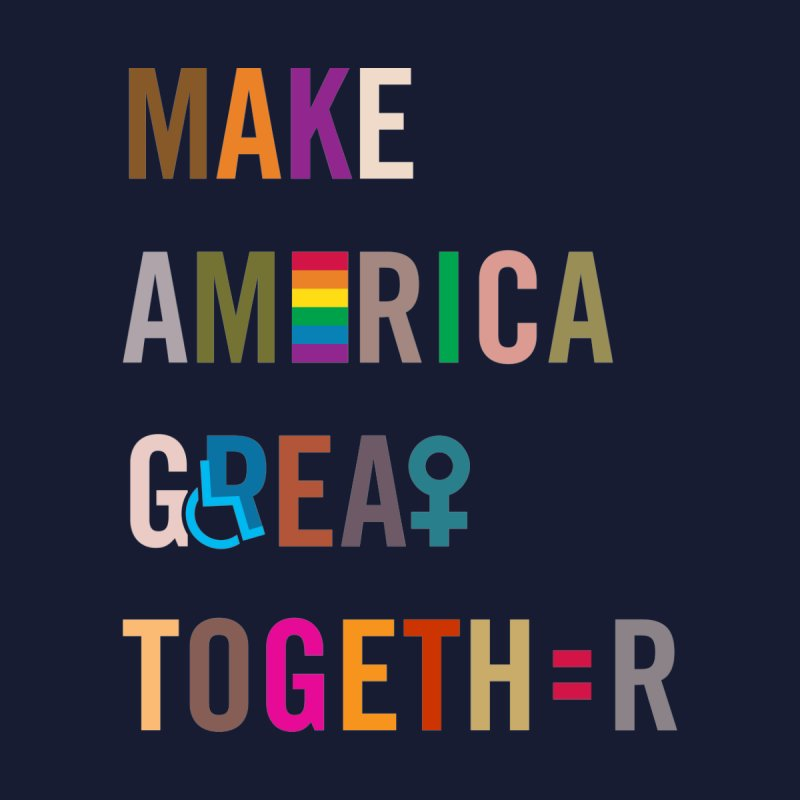'Make America Great Together' (dark) Home Tapestry by things made good