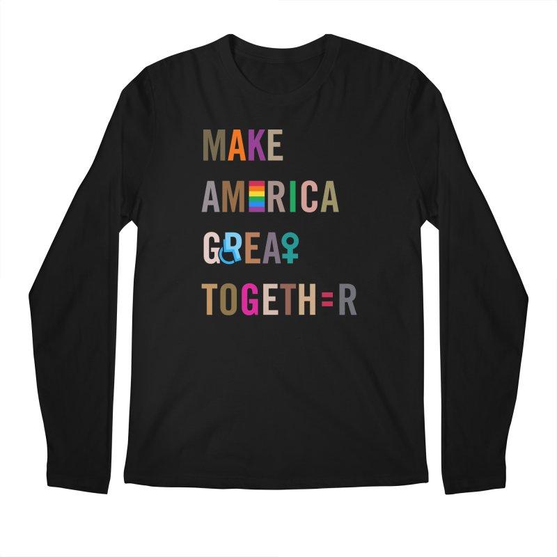 Men's 'Make America Great Together' Shirt (dark) in Men's Regular Longsleeve T-Shirt Black by things made good