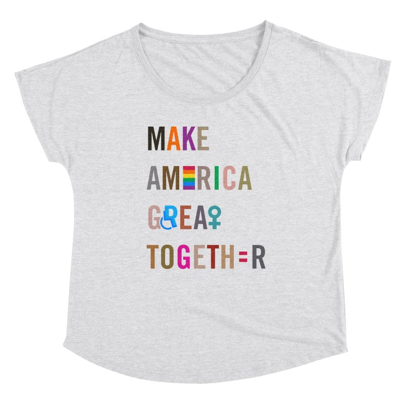 Make America Great Together' (light) Women's Scoop Neck by things made good