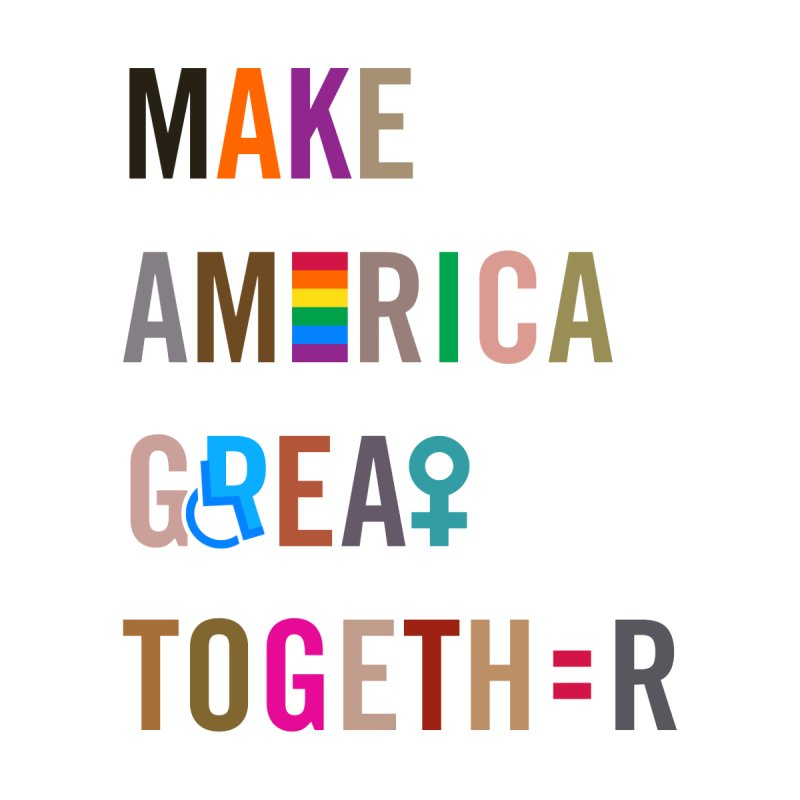 Kid's 'Make America Great Together' Shirt (light) Kids Longsleeve T-Shirt by things made good