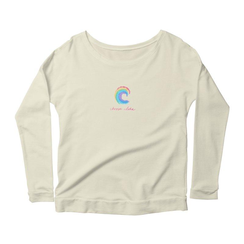 Choose Aloha Women's Scoop Neck Longsleeve T-Shirt by things made good