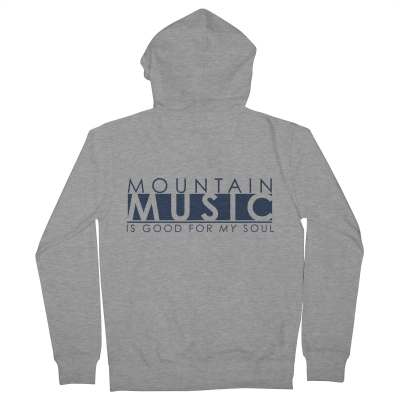 Mountain Music Men's French Terry Zip-Up Hoody by thinkinsidethebox's Artist Shop