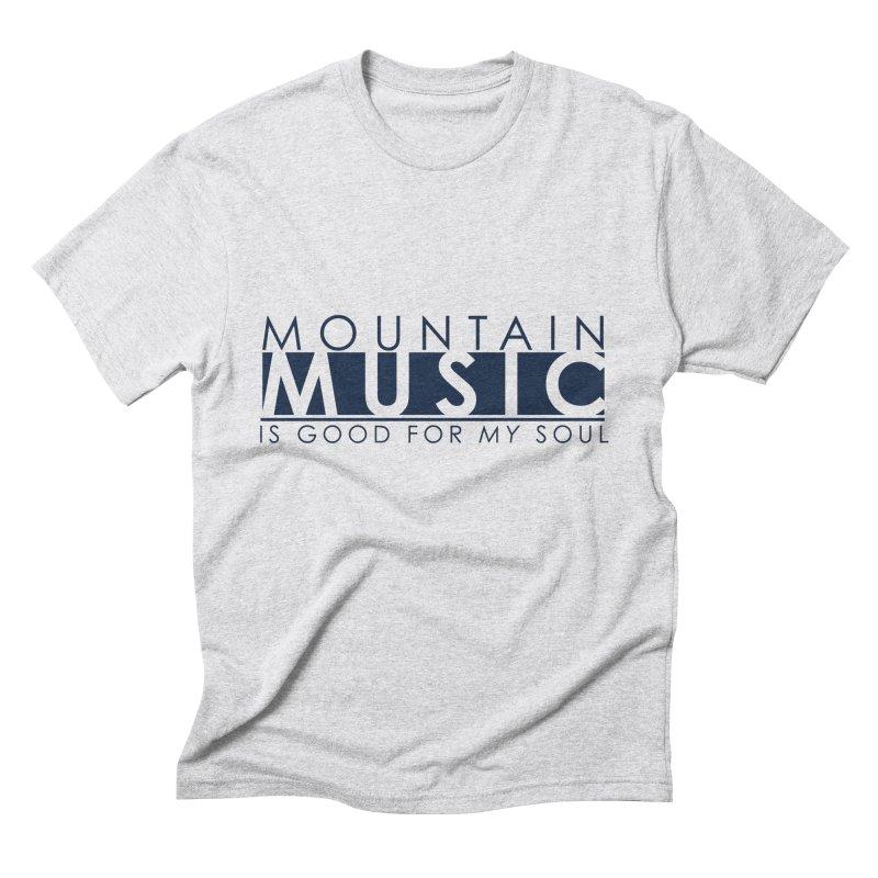 Mountain Music Men's Triblend T-Shirt by thinkinsidethebox's Artist Shop