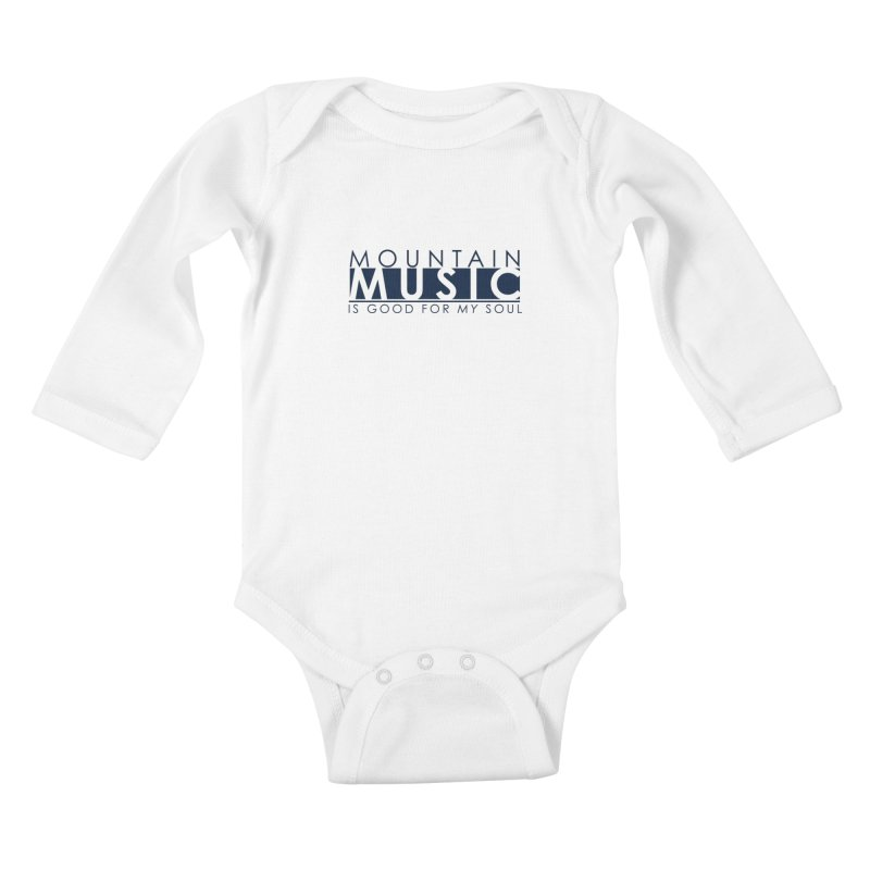 Mountain Music Kids Baby Longsleeve Bodysuit by thinkinsidethebox's Artist Shop