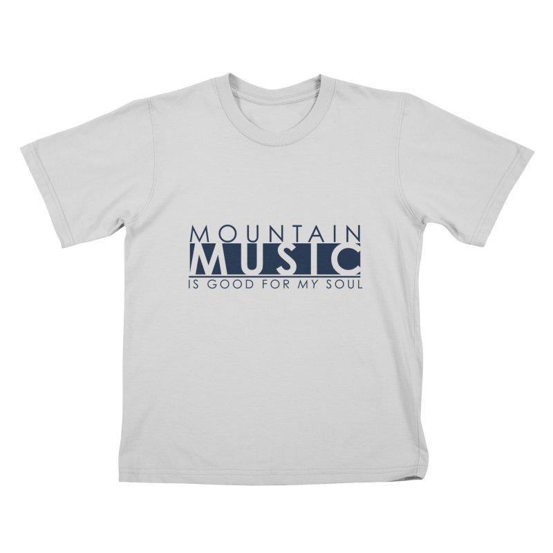 Mountain Music Kids T-Shirt by thinkinsidethebox's Artist Shop