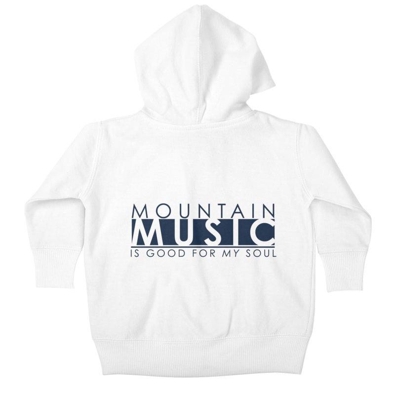 Mountain Music Kids Baby Zip-Up Hoody by thinkinsidethebox's Artist Shop