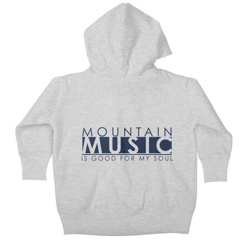 Mountain Music Kids Baby Zip-Up Hoody by thinkinsidethebox's Artist Shop