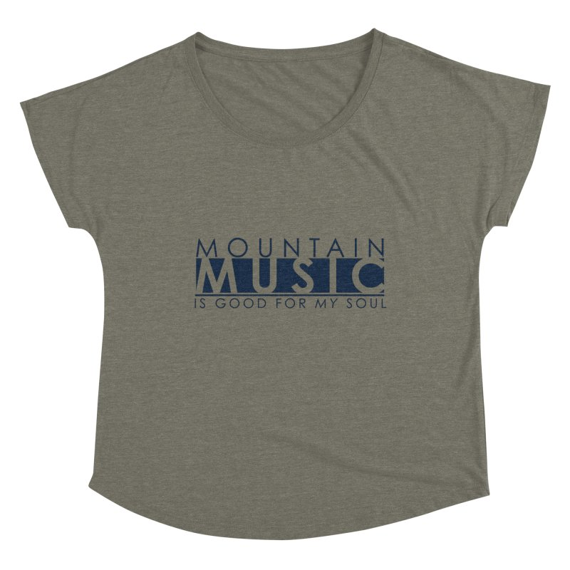 Mountain Music Women's Scoop Neck by thinkinsidethebox's Artist Shop