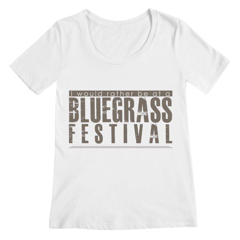 Bluegrass Festival Women's Regular Scoop Neck by thinkinsidethebox's Artist Shop
