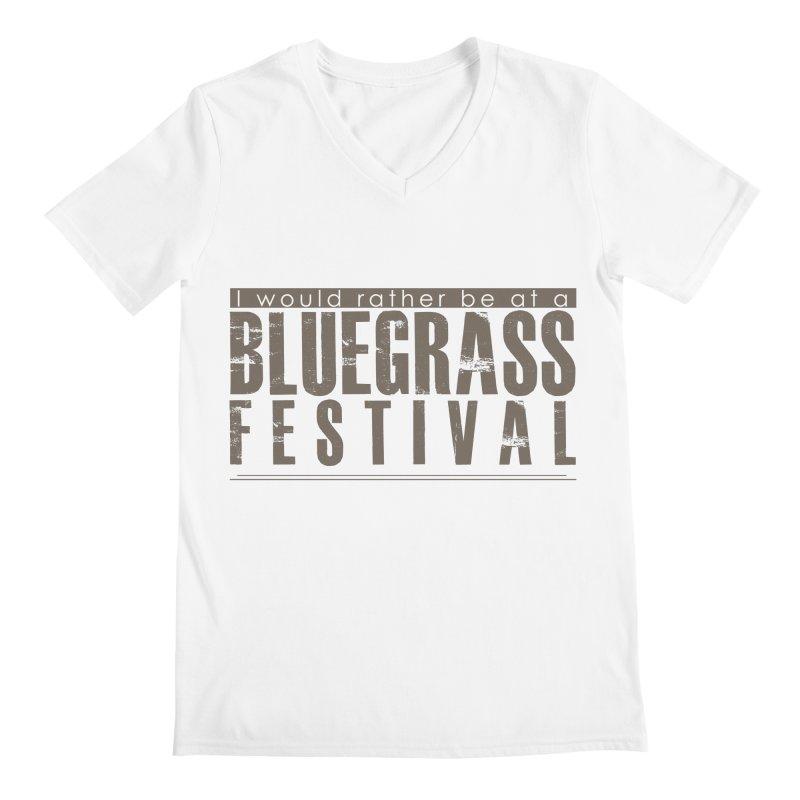 Bluegrass Festival Men's Regular V-Neck by thinkinsidethebox's Artist Shop