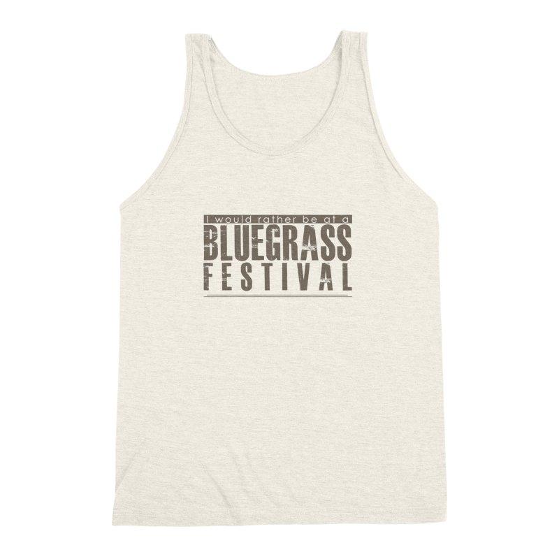 Bluegrass Festival Men's Triblend Tank by thinkinsidethebox's Artist Shop