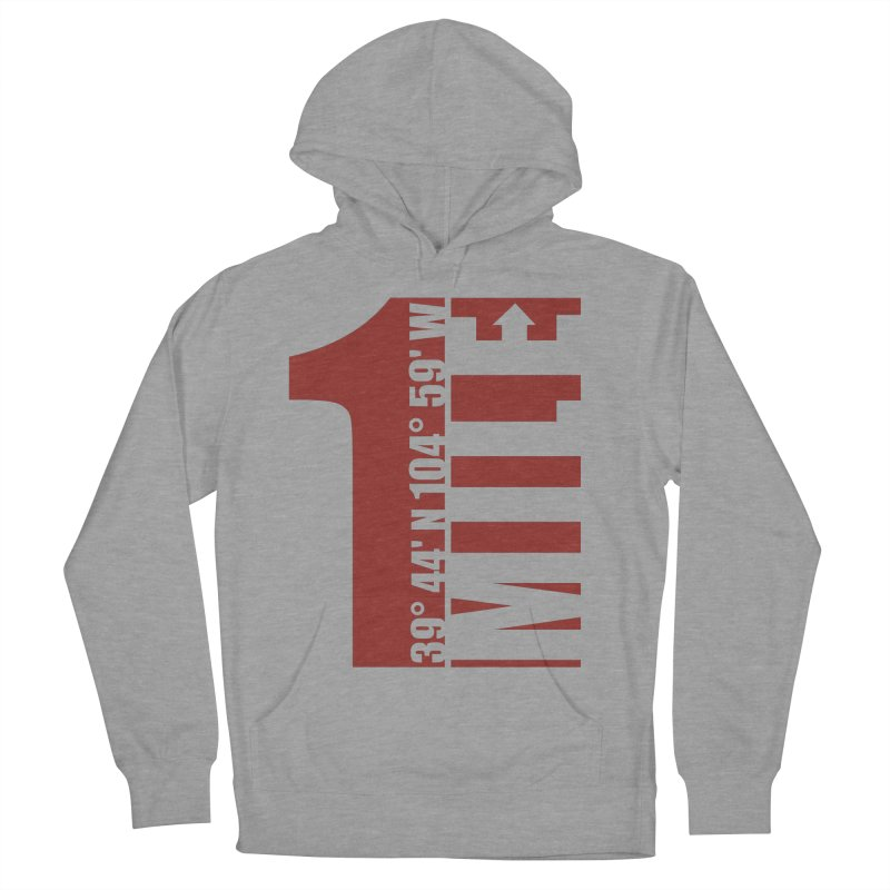 Denver CO Mile High Men's French Terry Pullover Hoody by thinkinsidethebox's Artist Shop