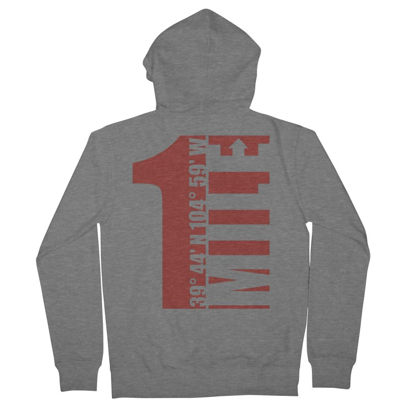 Denver CO Mile High Men's Zip-Up Hoody by thinkinsidethebox's Artist Shop