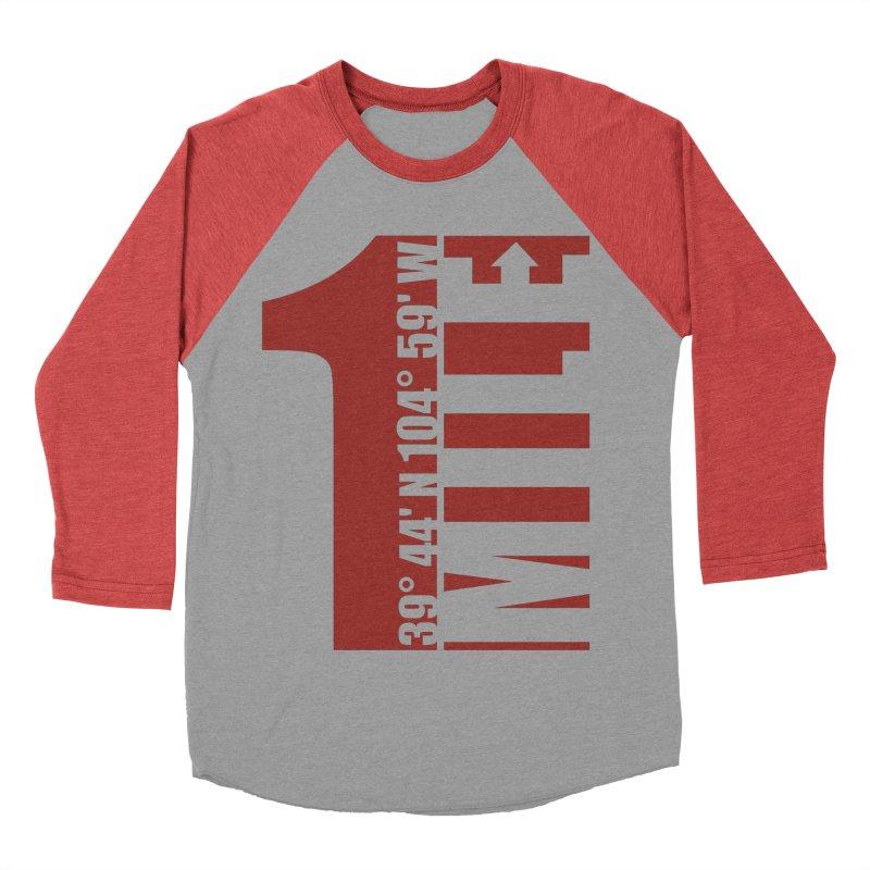 Denver CO Mile High Women's Baseball Triblend Longsleeve T-Shirt by thinkinsidethebox's Artist Shop