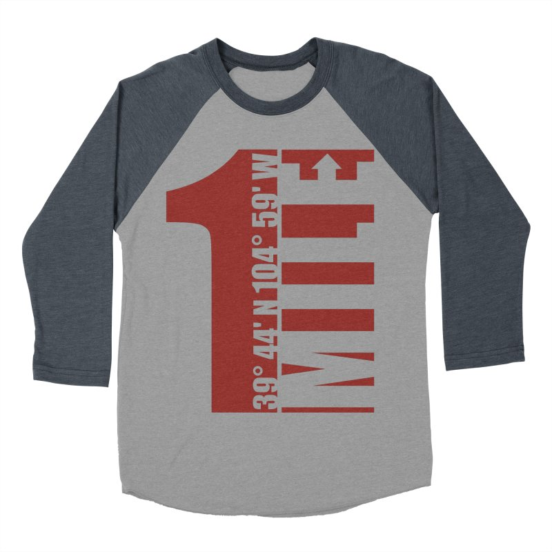Denver CO Mile High Men's Baseball Triblend Longsleeve T-Shirt by thinkinsidethebox's Artist Shop