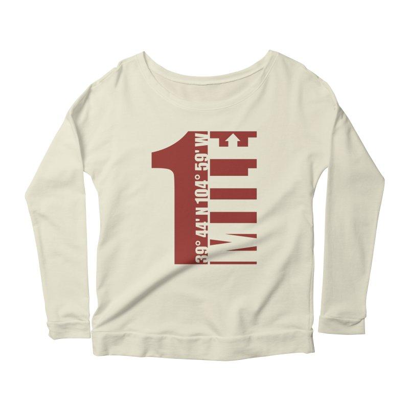 Denver CO Mile High Women's Scoop Neck Longsleeve T-Shirt by thinkinsidethebox's Artist Shop